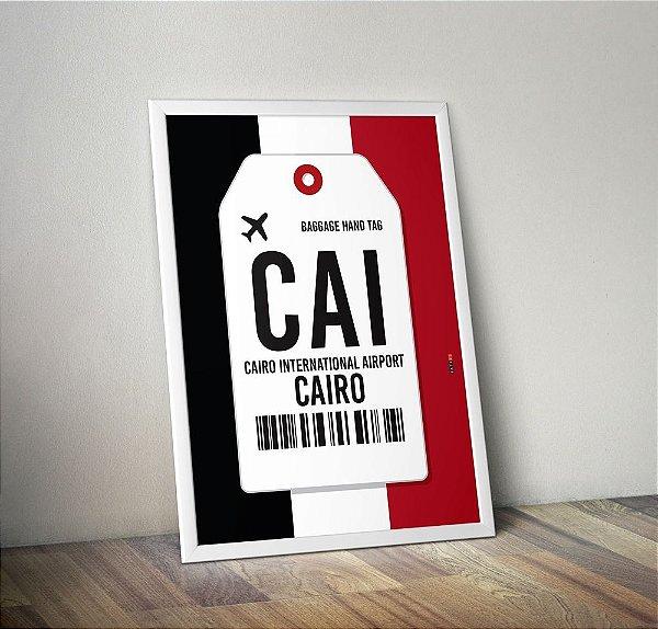 Poster Aeroporto CAI - Cairo, Egito