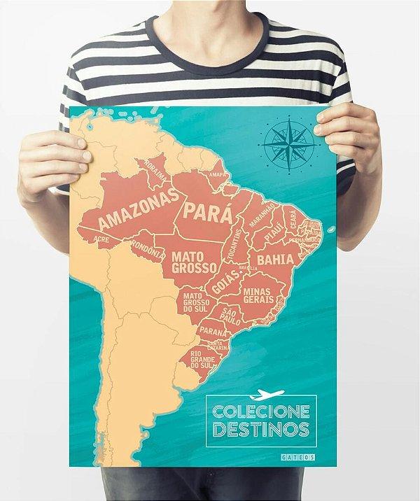 Mapa do Brasil  - Colecione Destinos -Terra