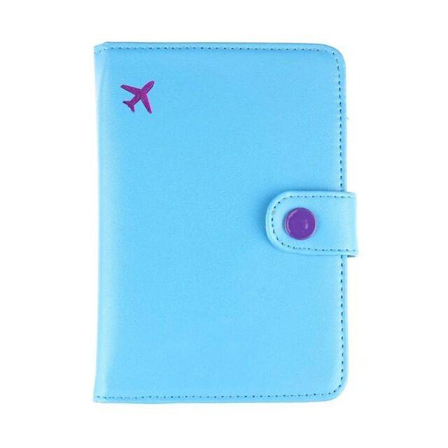 Porta Passaporte Viajante - Azul Claro