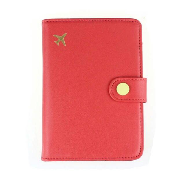Porta Passaporte Viajante - Vermelho