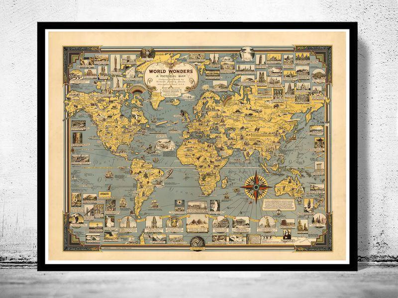 Mapa Maravilhas do Mundo