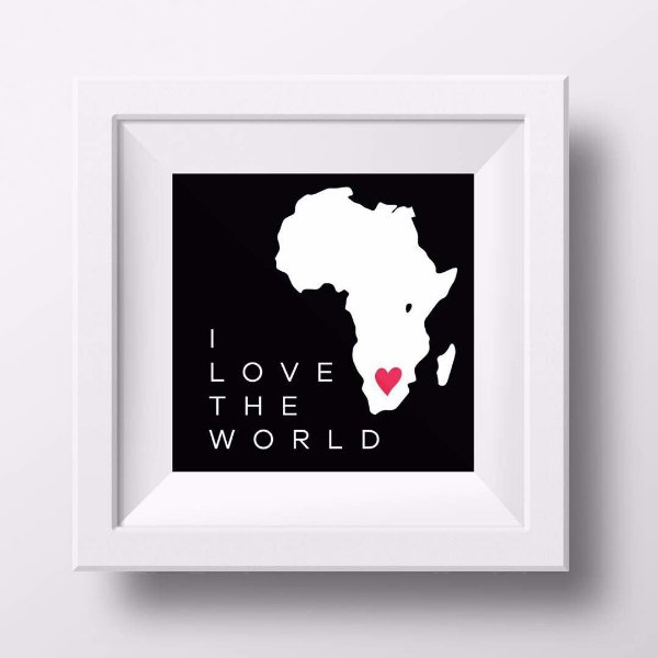 Pôster I love the World - África