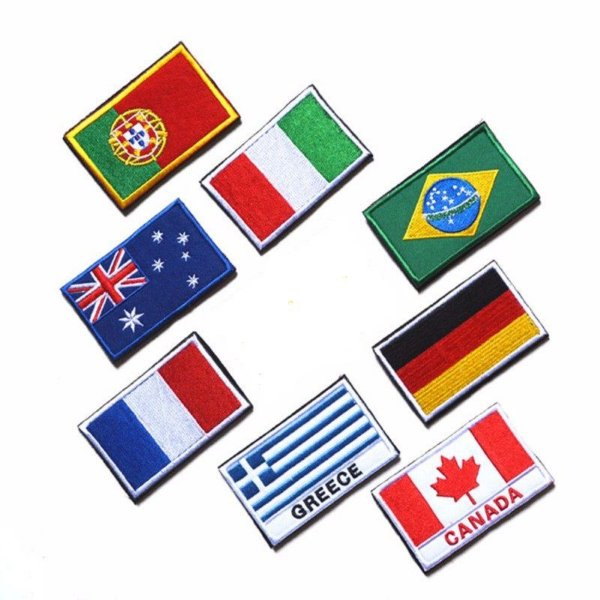 Patch Bordado Bandeira Países
