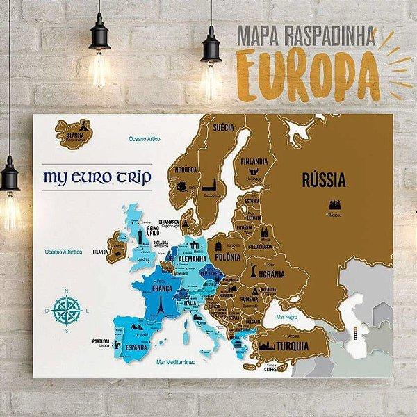 Mapa Raspadinha EUROPA - My Euro Trip GOLD