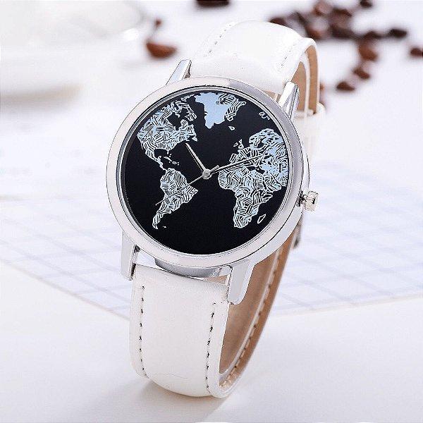 Relógio Mapa Mundi Estilo