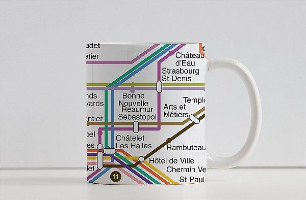 Caneca Coleção Embarque pelo Mundo - Metrô Paris