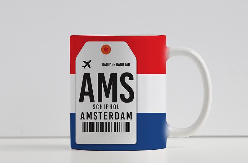 Caneca Aeroporto AMS,  Schipol - Amsterdam - Holanda