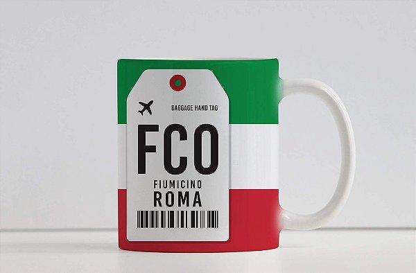 Caneca Aeroporto FCO, Fiumicino - Roma - Itália