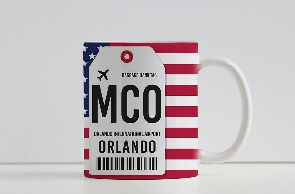Caneca Aeroporto MCO, Orlando - Estados Unidos