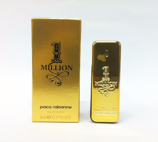 Miniatura One Million Eau de Toilette Paco Rabanne - Perfume Masculino 5 ML