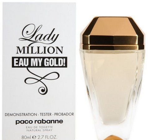 Tester Lady Million Eau My Gold! Feminino Eau de Toilette 80 ML