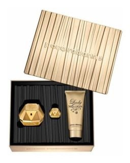 Paco Rabanne Lady Million Kit - Eau de Parfum 80ml + miniatura 5ml + Loção Corporal 100ml
