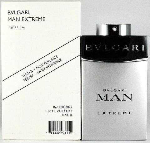 Tester Bvlgari Man Extreme Eau De Toilette Natural Spray 100 Ml