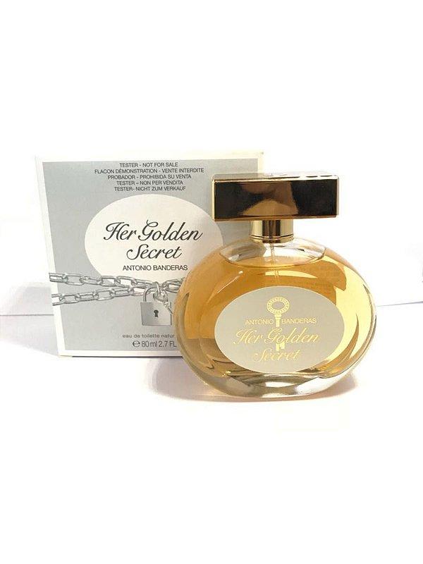 Tester Her Golden Secret Eau de Toilette Antonio Banderas - Perfume Feminino  80 ML