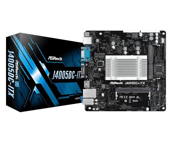 Placa Mãe J4005DC-ITX Processador Intel J4005 Mini-ITX DDR4 HDMI VGA ASRock