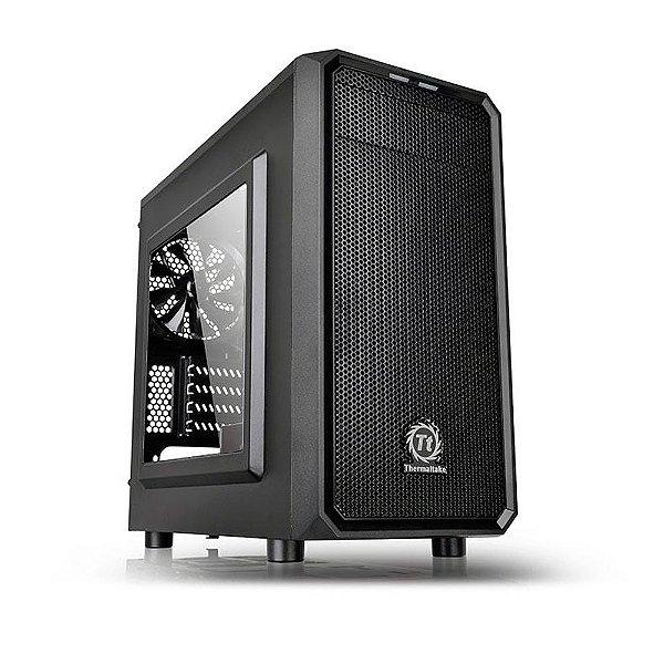 Gabinete Micro ATX Gamer Thermaltake Versa H15 Black C/ Acrílico