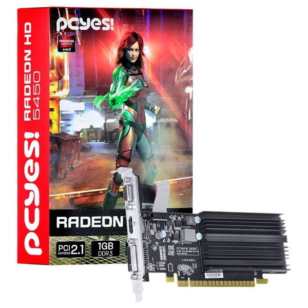 Placa de Vídeo AMD Radeon 5450 - 1gb DDR3 - 64 Bits  Low Profile PCYES