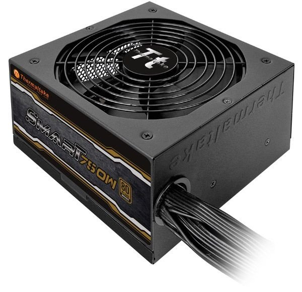 Fonte ATX 750 Watts Reais C/ PFC Ativo Thermaltake Smart 80% Plus Bronze SP-750PCBBZ