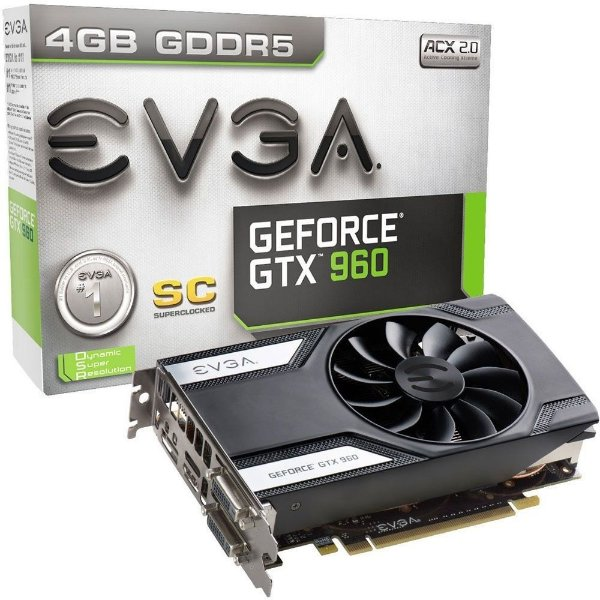 Placa de Vídeo Geforce GTX 960 SC 4gb DDR5 - 128 Bits EVGA 04G-P4-1962-KR