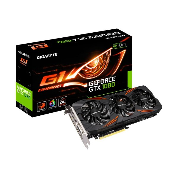 Placa de Vídeo Geforce GTX 1080 G1 Gaming 8gb DDR5 - 256 Bits Gigabyte GV-N1080G1GAMING-8GD