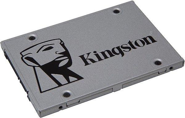 SSD Kingston 2.5´ 120GB UV400 SATA III Leituras: 550MB/s e Gravações: 350MB/s - SUV400S37/120G