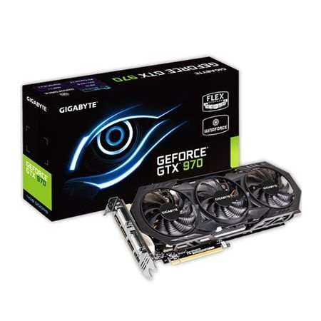 Placa de Vídeo Geforce GTX 970 OC 4gb DDR5 - 256 Bits Gigabyte WindForce GV-N970WF30C-4GD