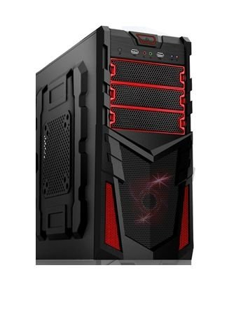 Gabinete Micro ATX Gamer BR-One Troll V8R Black/Red