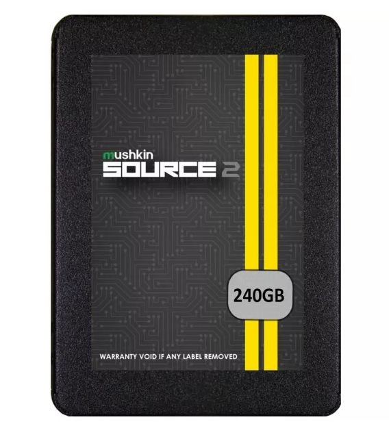 "SSD 2.5"" Mushkin Source 2 MKNSSDS2240GB de 240GB até 560MB/s de Leitura - Preto"