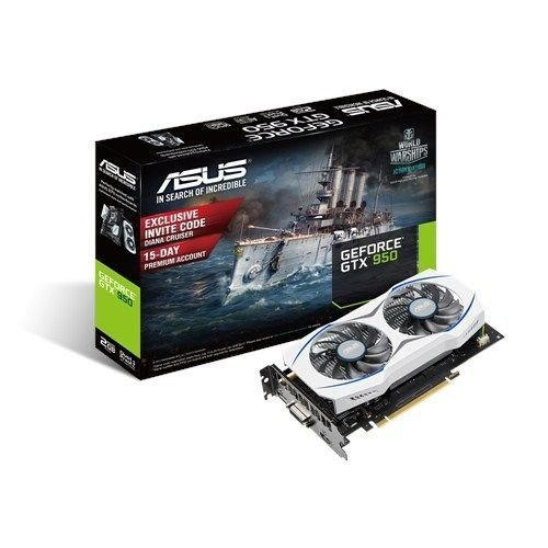 Placa de Vídeo Geforce GTX 950 - 2gb DDR5 - 128 Bits ASUS GTX950-2G