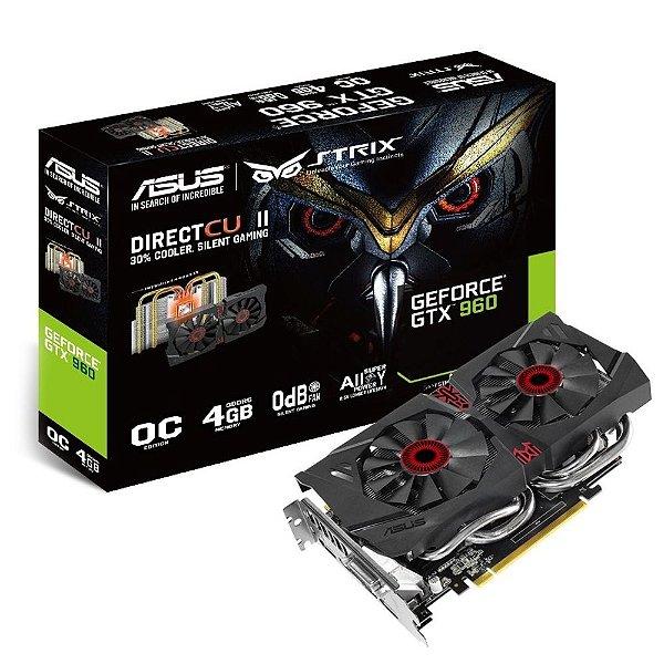 Placa de Vídeo Geforce GTX 960 Strix 4gb DDR5 - 128 Bits ASUS