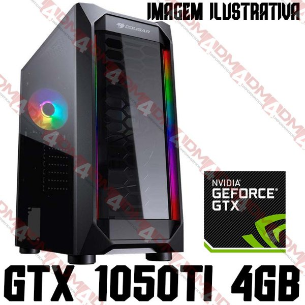 PC Gamer AMD Ryzen 5 3600X, 16GB DDR4, SSD 240GB, GPU GEFORCE GTX 1050TI OC 4GB