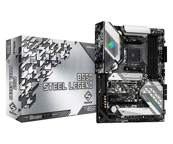 Placa Mãe ASrock CHIPSET AMD B550 STEEL LEGEND SOCKET AM4