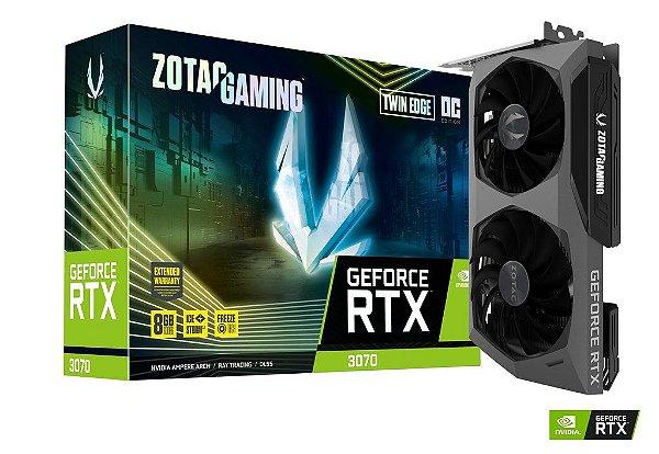 Placa de Vídeo GPU GEFORCE RTX 3070 Trinity OC 8GB GDDR6 - 256 Bits ZOTAC - ZT-A30700H-10PLHR