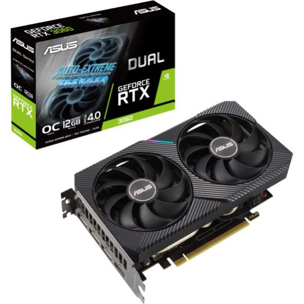 Placa de Vídeo GPU GEFORCE RTX 3060 OC 12GB GDDR6 - 192 BITS ASUS DUAL - 90YV0GB2-M0NA10 V2 LHR