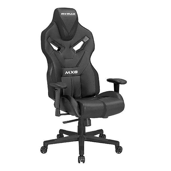 Cadeira Gamer Mymax MX8 Preta, MGCH-8170/BK (SOMENTE RETIRADA EM LOJA)