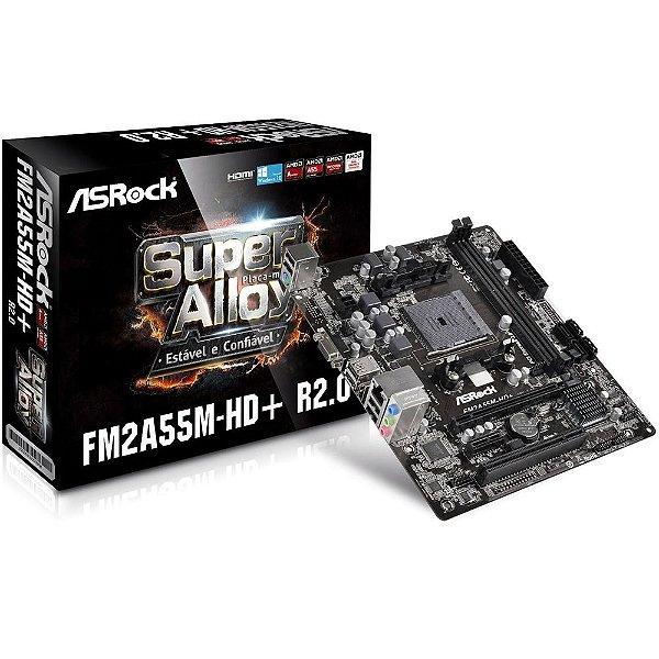 Placa Mãe ASrock P/ AMD FM2A55M-HD + R2.0 Fm2+