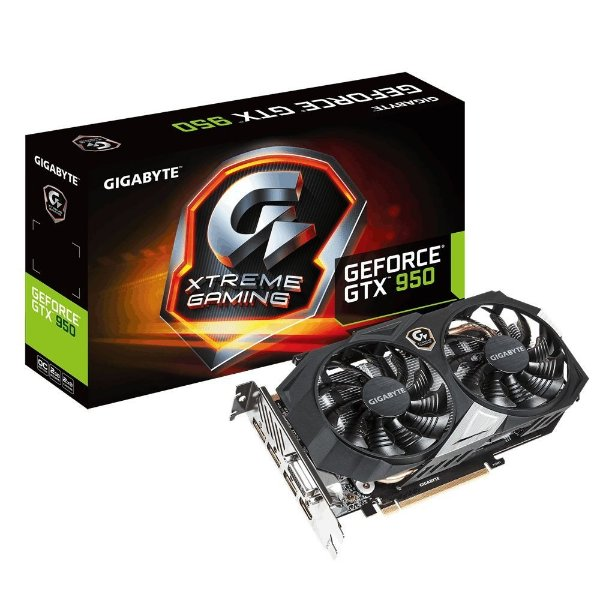 Placa de Vídeo Geforce GTX 950 Xtreme Edition 2gb DDR5 - 128 Bits Gigabyte GV-N950XTREMEC-2GD