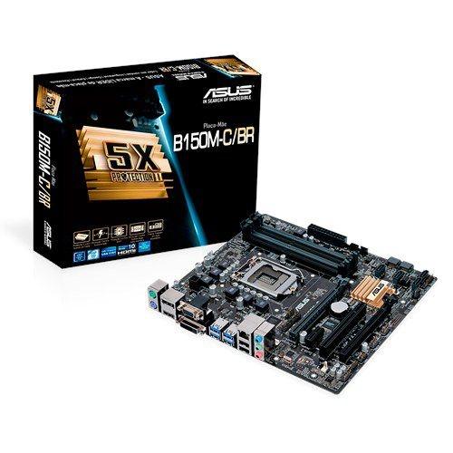 Placa Mãe ASUS B150M-C/BR DDR4 P/ Intel Socket LGA 1151