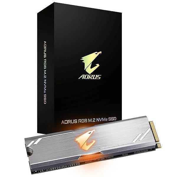 SSD Gigabyte Aorus Gen4 500GB, M.2 NVMe, Leituras: 5000MB/s e Gravações: 2500MB/s - GP-ASM2NE6500GTTD