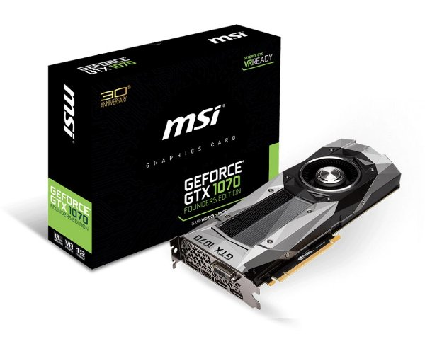 Placa de Vídeo Geforce GTX 1070 Founders Edition 8gb DDR5 - 256 Bits MSI - 912-V801-1290