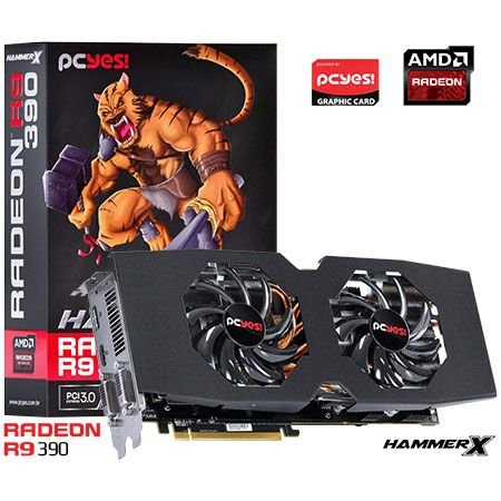 Placa de Vídeo AMD Radeon R9 390 HammerX 8gb DDR5 - 512 Bits PCYES PH39051208D5OCV2