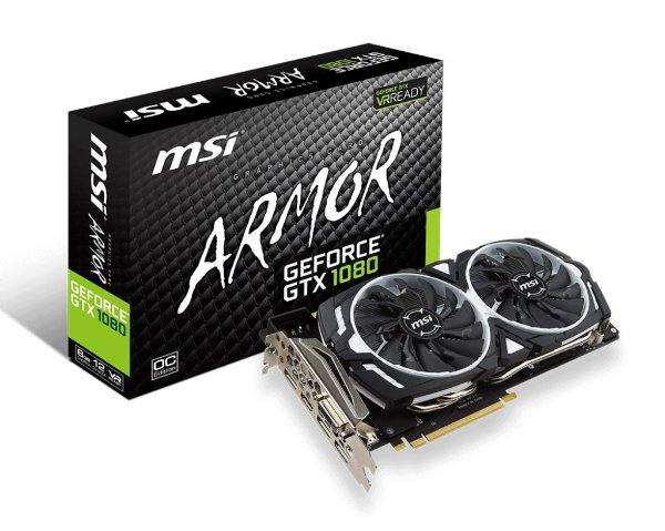 Placa de Vídeo Geforce GTX 1080 Armor 8gb OC DDR5 - 256 Bits GDDR5X 256BIT