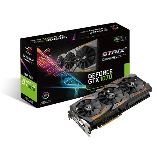 Placa de Vídeo Geforce GTX 1070 Strix 8gb DDR5 256 Bits ASUS Strix-GTX1060-08G Gaming