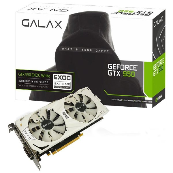 Placa de Vídeo Geforce GTX 950 EX OC 2gb DDR5 - 128 Bits Galax 95NPH8DVE8EW