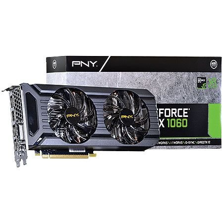 Placa de Vídeo Geforce GTX 1060 - 6gb DDR5 - 192 Bits PNY VCGGTX10606PB