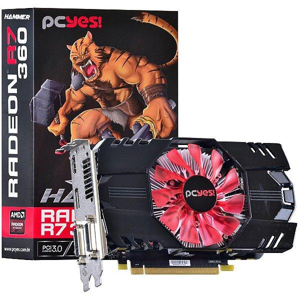 Placa de Vídeo AMD Radeon R7 360 Hammer 2gb DDR5 - 128 Bits PCYES O360PFB2CR