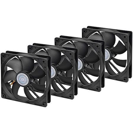 Cooler FAN CoolerMaster Pack 4 em 1 Silent Fan 12cm R4-S2S-124K-GP