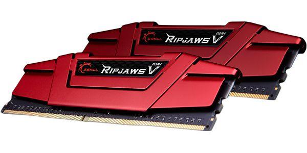 Kit Memória 32gb DDR4 2400 Mhz CL15 G.Skill RipJaws (2X16gb) V - F4-2400C15D-32GVR