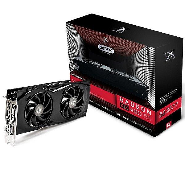 Placa de Vídeo AMD Radeon RX 480 GTR 8gb DDR5 - 256 Bits XFX RX-480P8DFA6