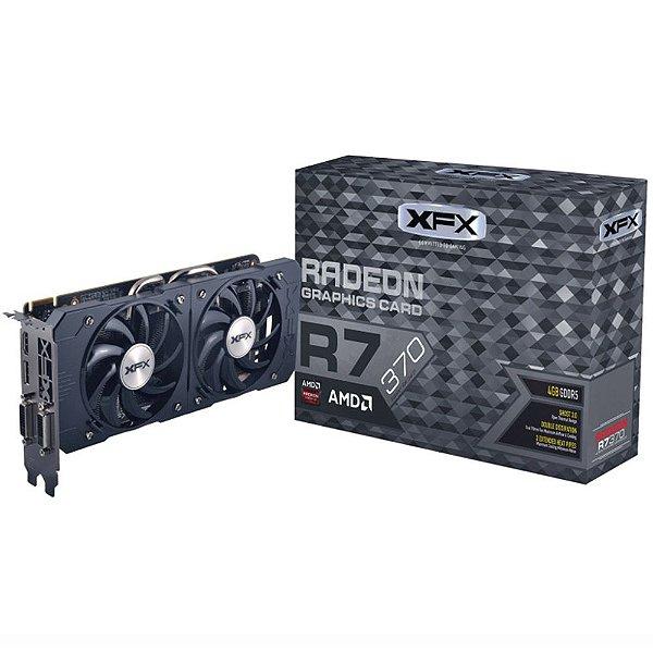 Placa de Vídeo AMD Radeon R7 370 Double Dissipation 4gb DDR5 - 256 Bits XFX R7-370P-4DF5